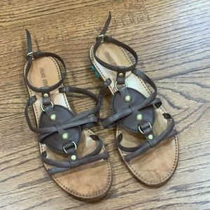 Miu Miu Authentic Sandals with Turquoise Stone